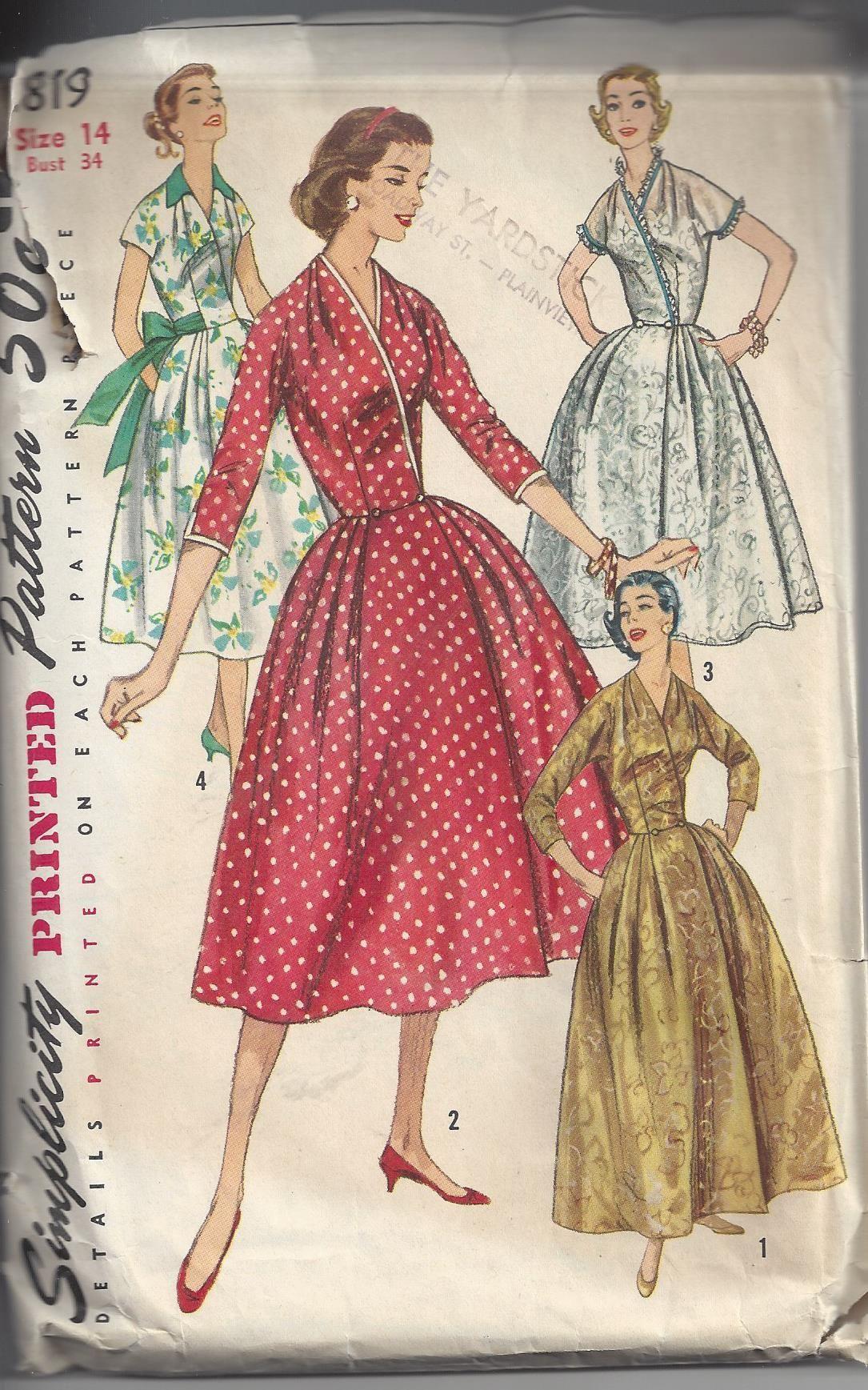 Momspatterns vintage sewing patterns simplicity vintage us
