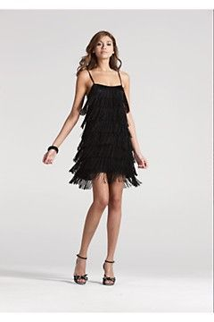 76e6779a806 twenties style fringed dress french connection