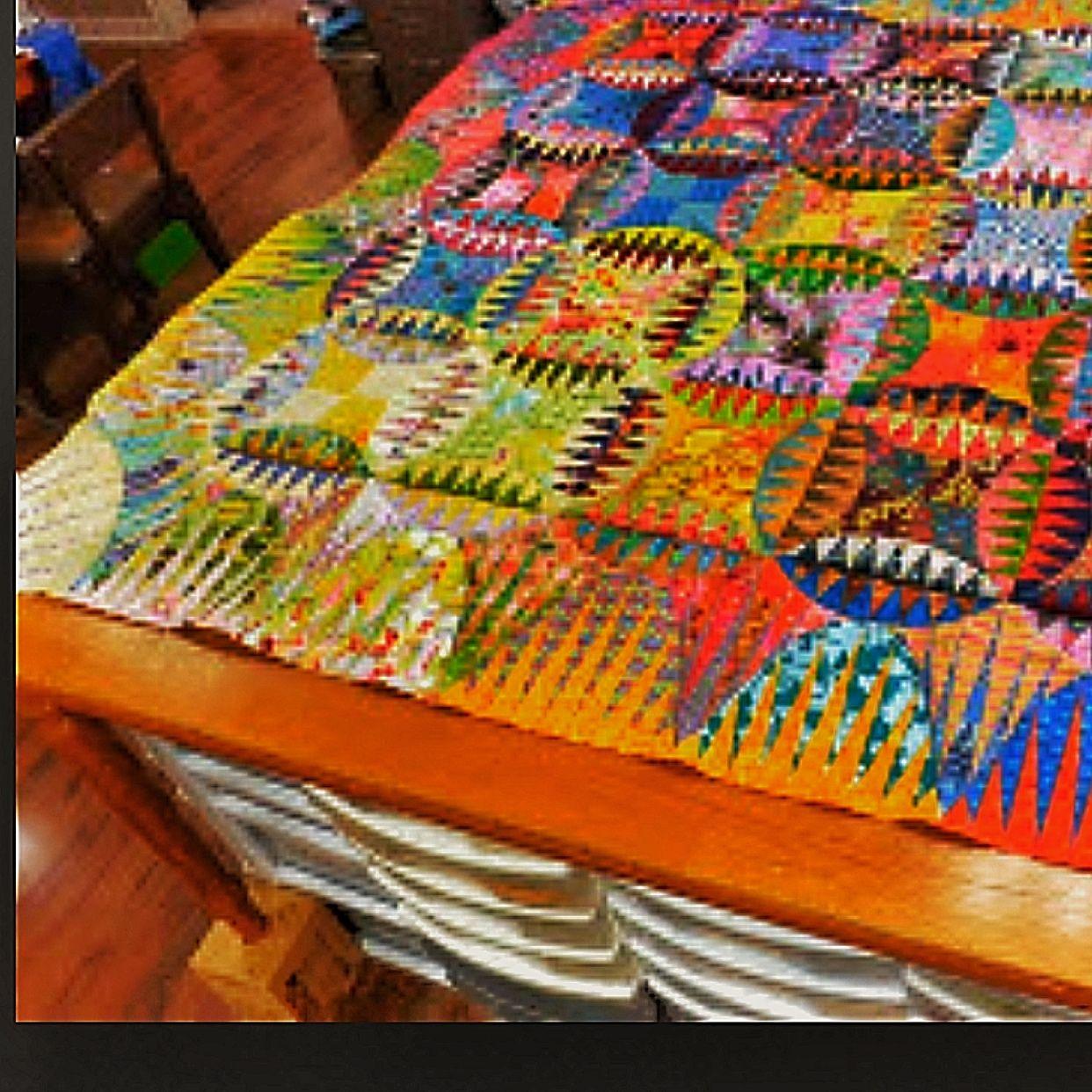 Indian Orange Peel Quilt pattern design Karen Stone, quilter ... : karen quilt - Adamdwight.com