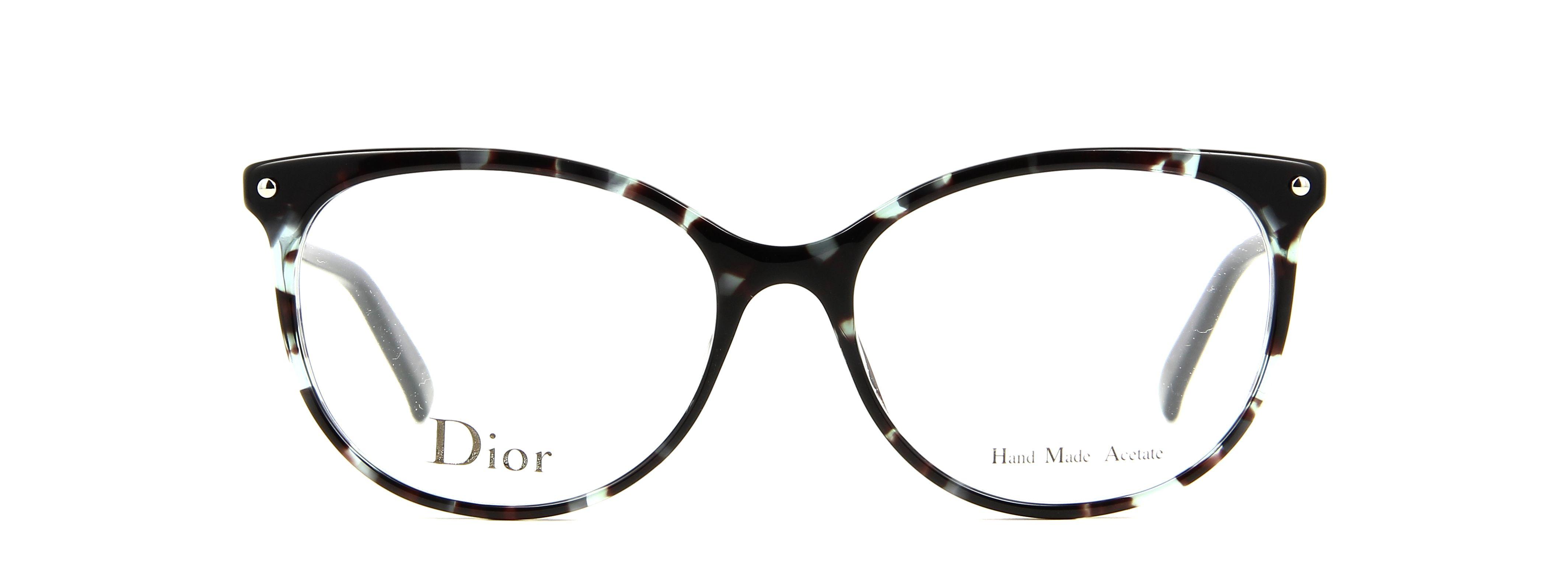 lunettes de vue dior cd 3284 lbt 53 16 femme ecaille vert bleu papillon cercl e tendance. Black Bedroom Furniture Sets. Home Design Ideas