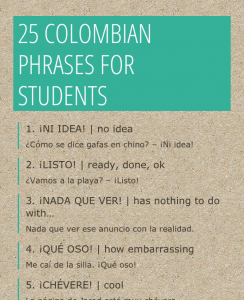 The Colombian List of Spanish Slang Expressions Ev