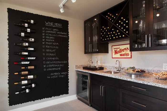 Wine Walls As Decor Google Search Grape Kitchen Decor Chalkboard Wall Kitchen Kitchen Decor