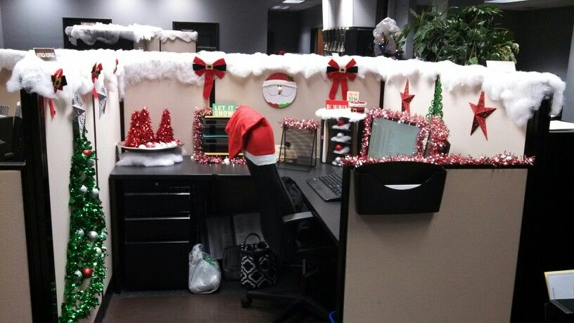 My Cubicle All From Dollar Tree Christmas Cubical