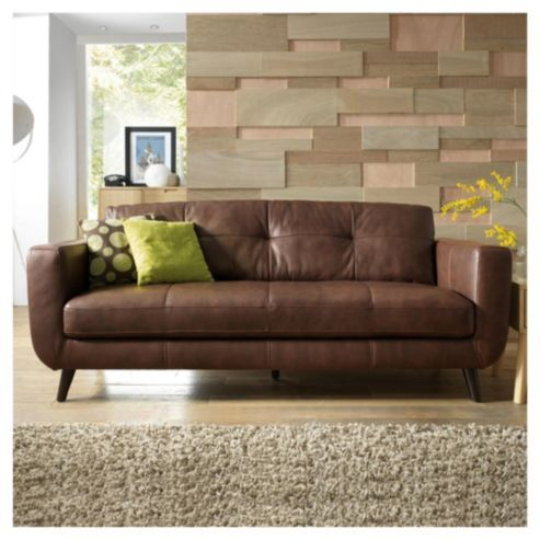 Buy Lorenzo Leather Large Sofa from our Lorenzo range - Tesco.com ...