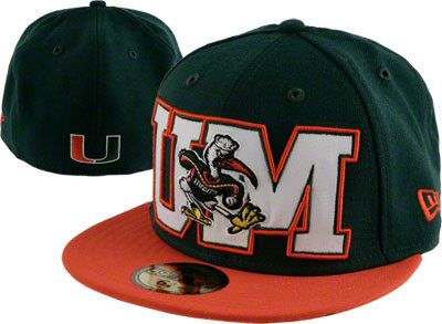 Miami Hurricanes Dark Green New Era 59FIFTY College Letters Fitted ... 5ea96a992db
