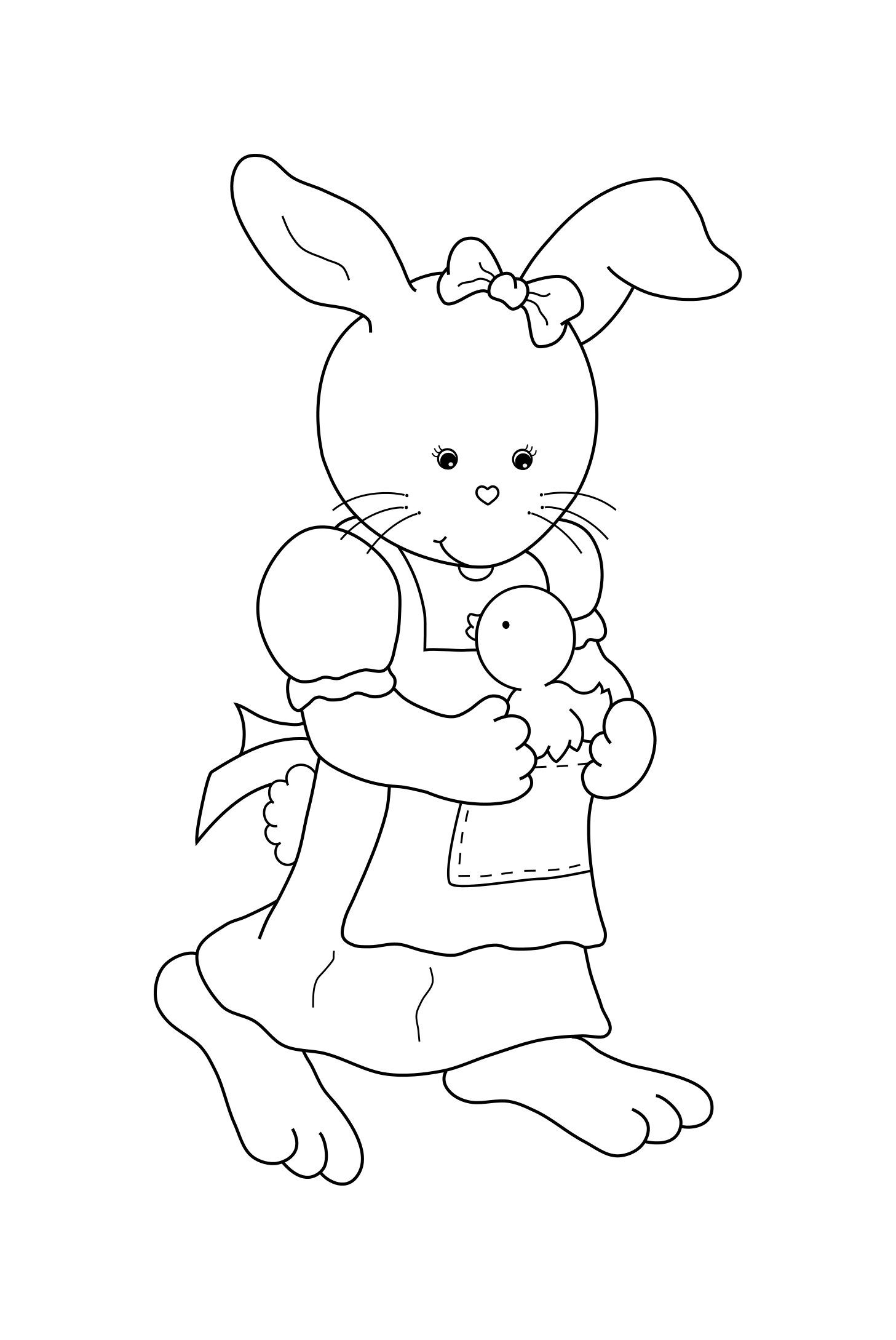Girl Bunny With Chick