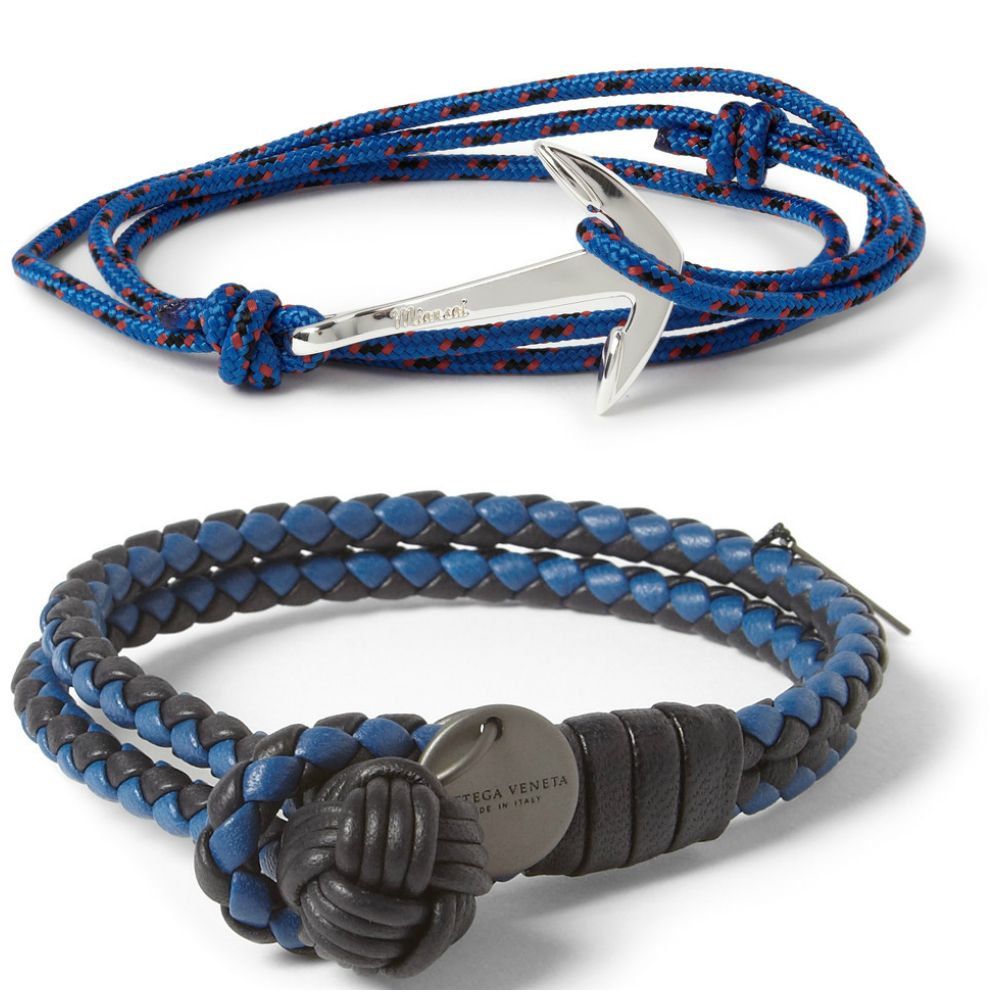 miansai rope and silverplated anchor bottegaveneta twotone