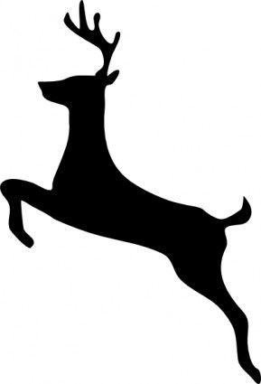 Deer jumping. Clipart beauty the beast