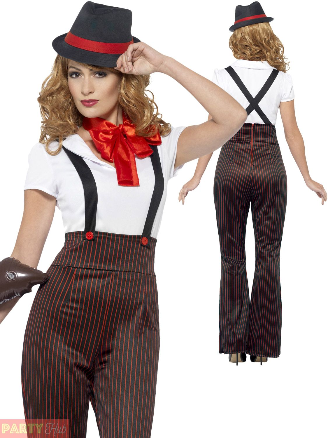 ladies glam gangster costume adults 1920s moll fancy dress