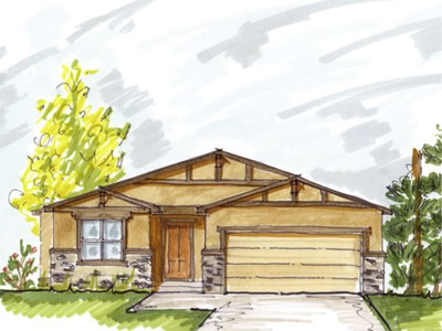 5068 Galloping Goose is a new floor plan for sale with 4-beds, 3-baths, and a 2-car garage. It is located in the Cordera community in Colorado Springs, Colorado.