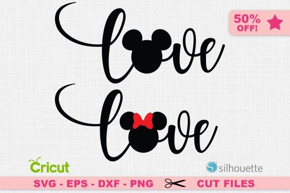 Download Love svg, Mickey svg, Disney love svg, Minnie svg, Love ...