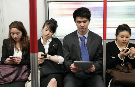humans drowning in technology