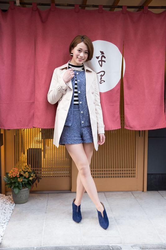 坂田梨香子さんのショートパンツ姿