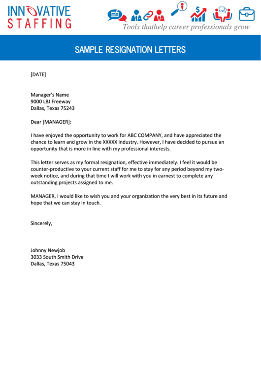 Need A Sample Resignation Letters HereS A Free Template Create