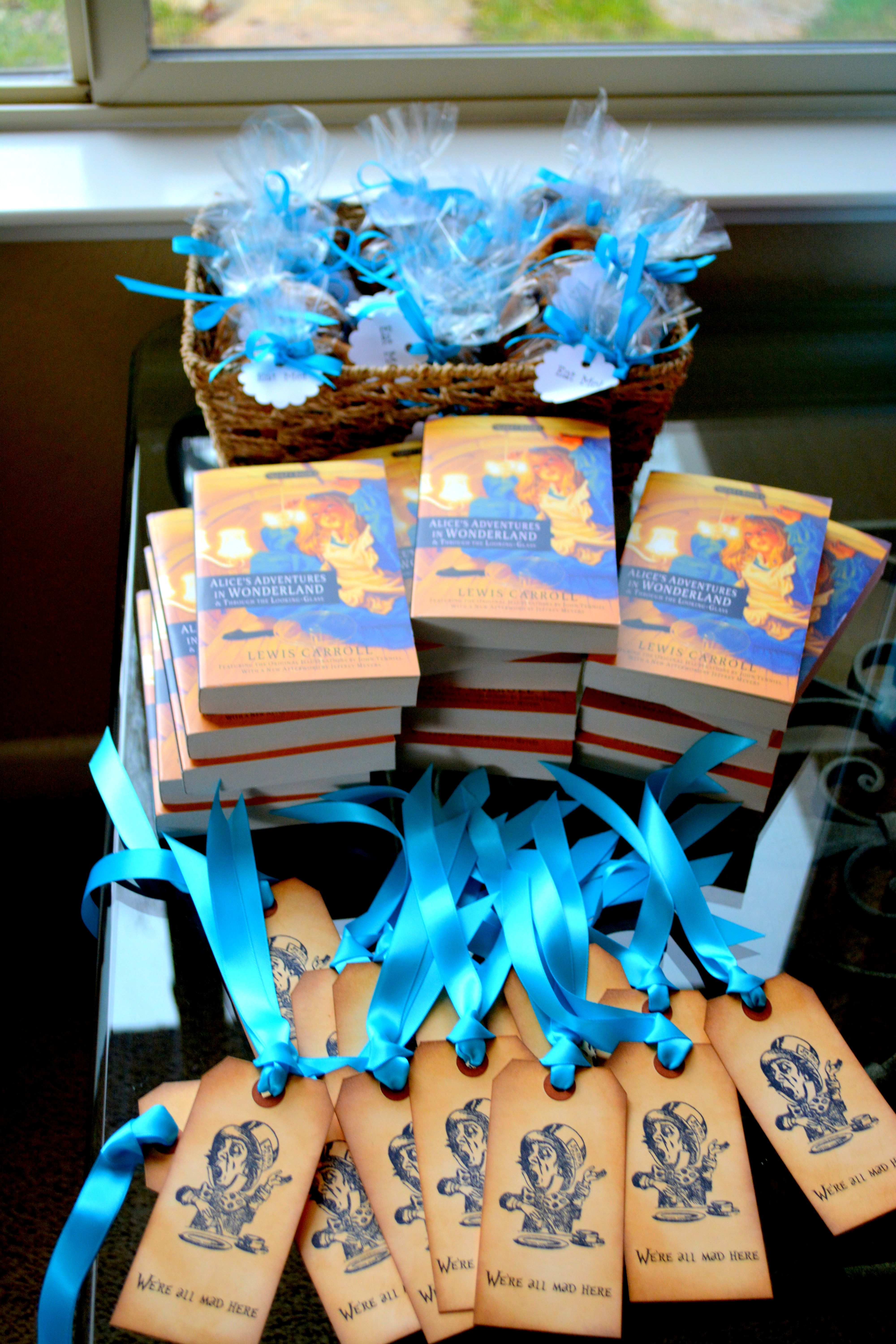 Mad Hatter Theme Party Favors For The Guests Alice In Wonderland Book Mad Hatter Bookmarks And E Kids Tea Party Mad Hatter Birthday Party Mad Hatter Party