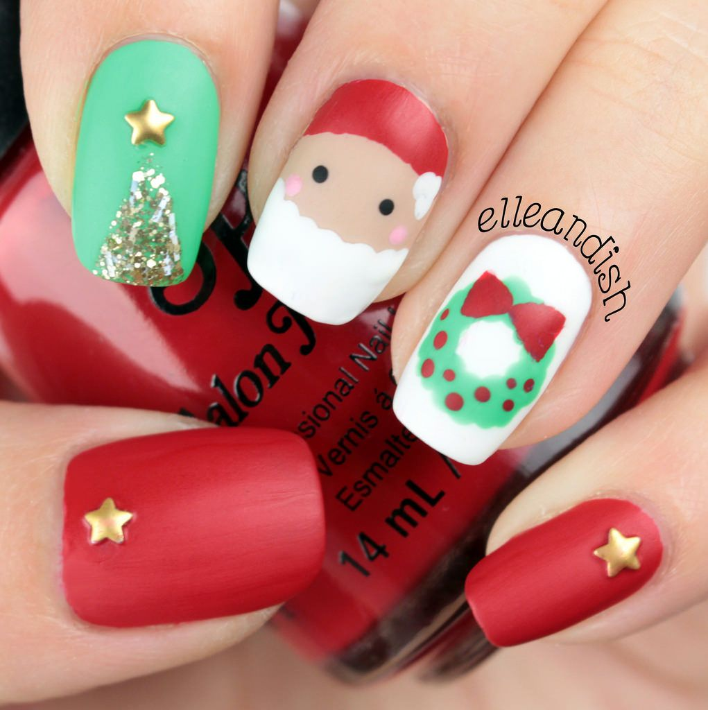 Holiday Nail Art Tutorials: Christmas Nail Art Tutorial