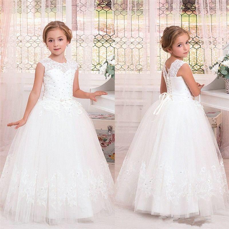 Details zu Blumenmädchen Kleid Mädchen Kinder Hochzeit Festkleider ...