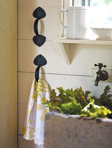 Use Old Fashioned Handles To Hang Kitchen Towels Towel Hooks