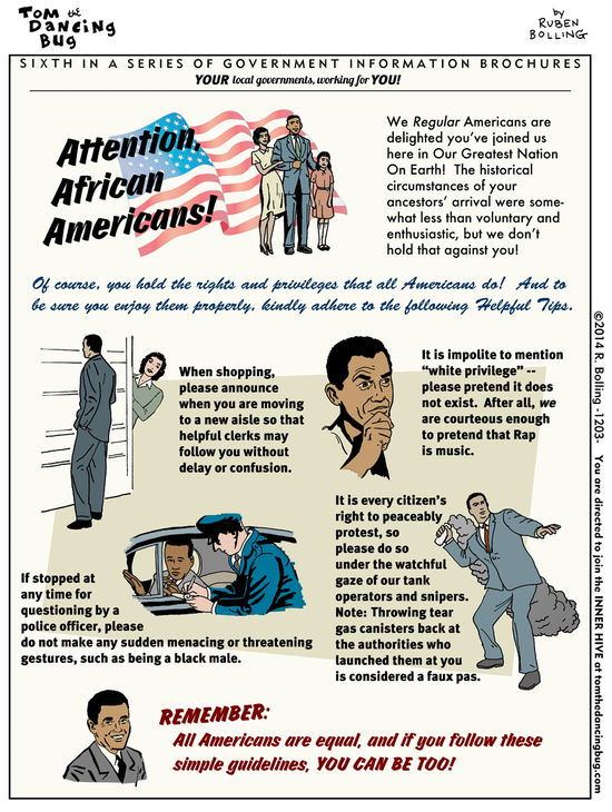 A Special message for African Americans by Ruben Bolling- Daily Kos comics Perhaps you will follow @RubenBolling on Twitter