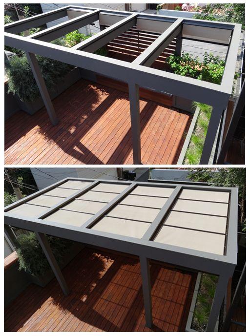 Roof Deck Pergola Urban Garden Landscape Design