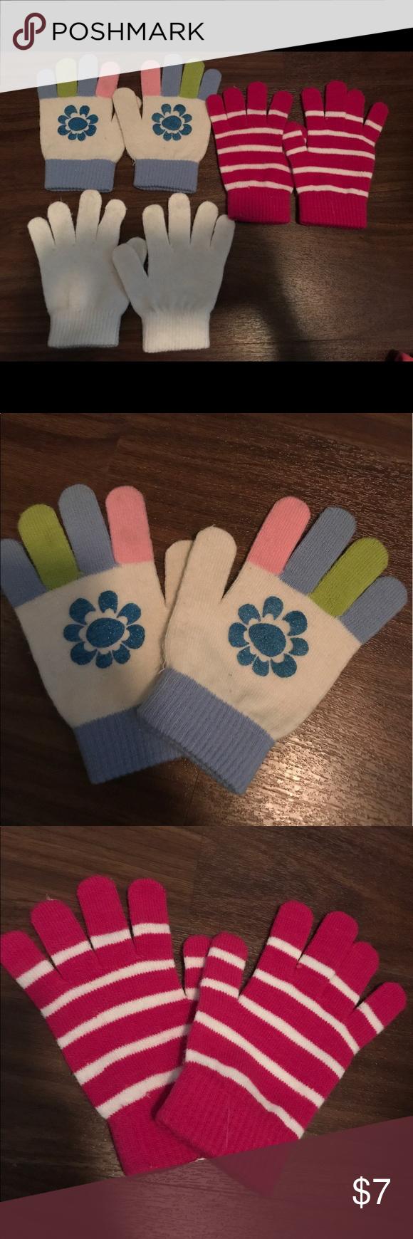 girls cotton gloves