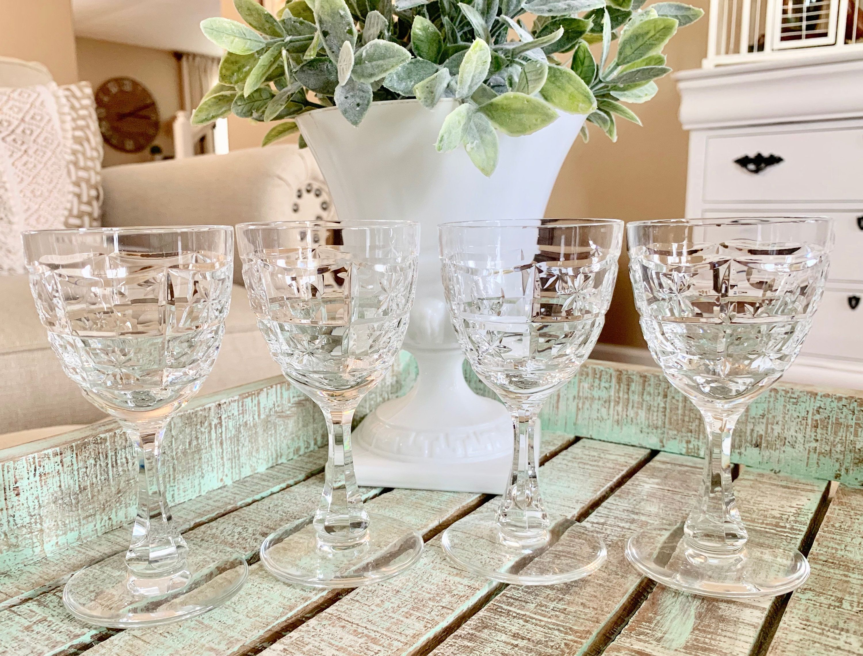 Top Shelf Bevel Crystal Wine Glasses