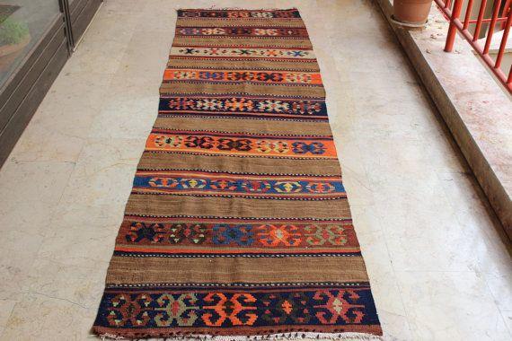 Anatolian Kilim Runner Handwoven Rug Runner Decorative Kilim Runner Turkish Kilim Runner Vintage Kilim Runner 110 X 33 Inch 280 X 84 Anatolian Kilim Rugs Kilim