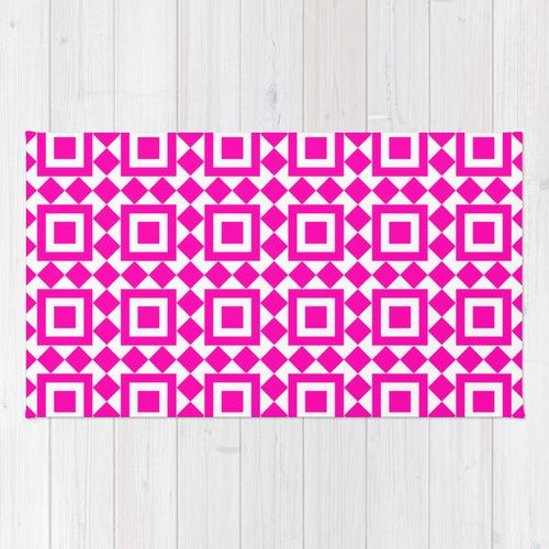 Moroccan Tiles Pink Rug by Caitlin Workman | Society6