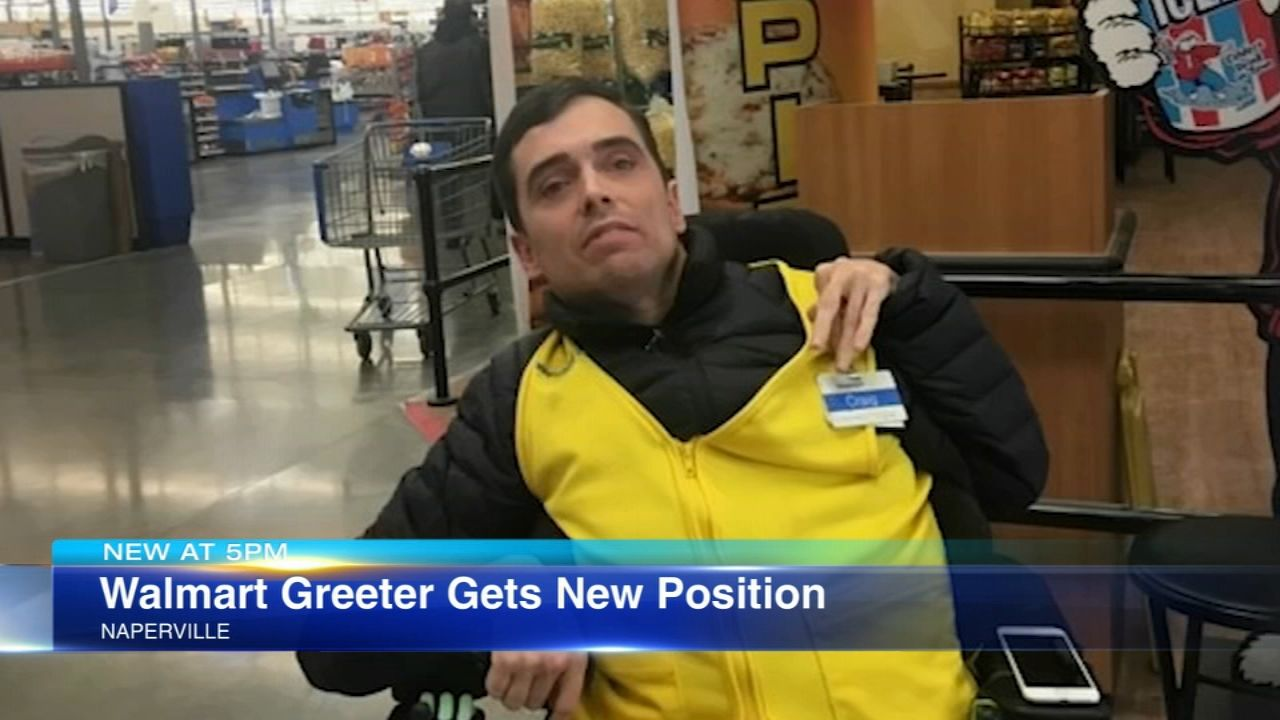 Walmart greeter with cerebral palsy gets new job at