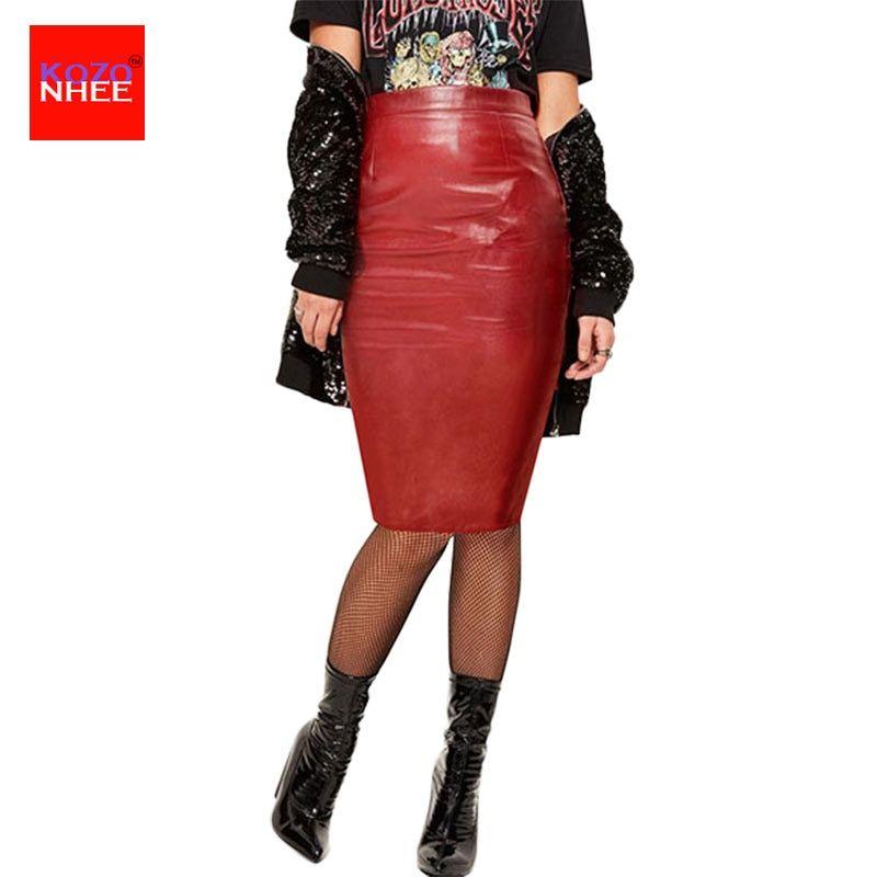 6e47a1065050b 2017 Women PU Faux Leather Midi Pencil Bodycon Skirts 2016 New Plus Size  Ladies Sexy Tube Skirt Saia Femininas Price  37.06   FREE Shipping  denim    ...