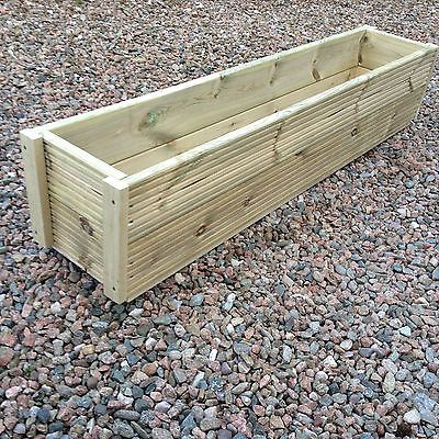 Large 1 5 Metre Wooden Garden Planter Box Herb Planters In Decking Board Wooden Garden Planters Garden Planter Boxes Herb Planters