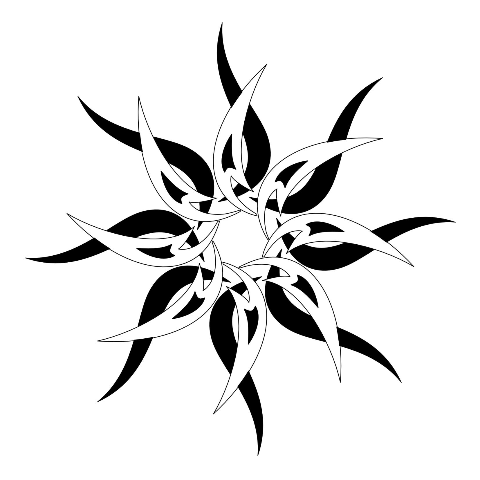 Black & white tribal sun tattoo design … Sun tattoo