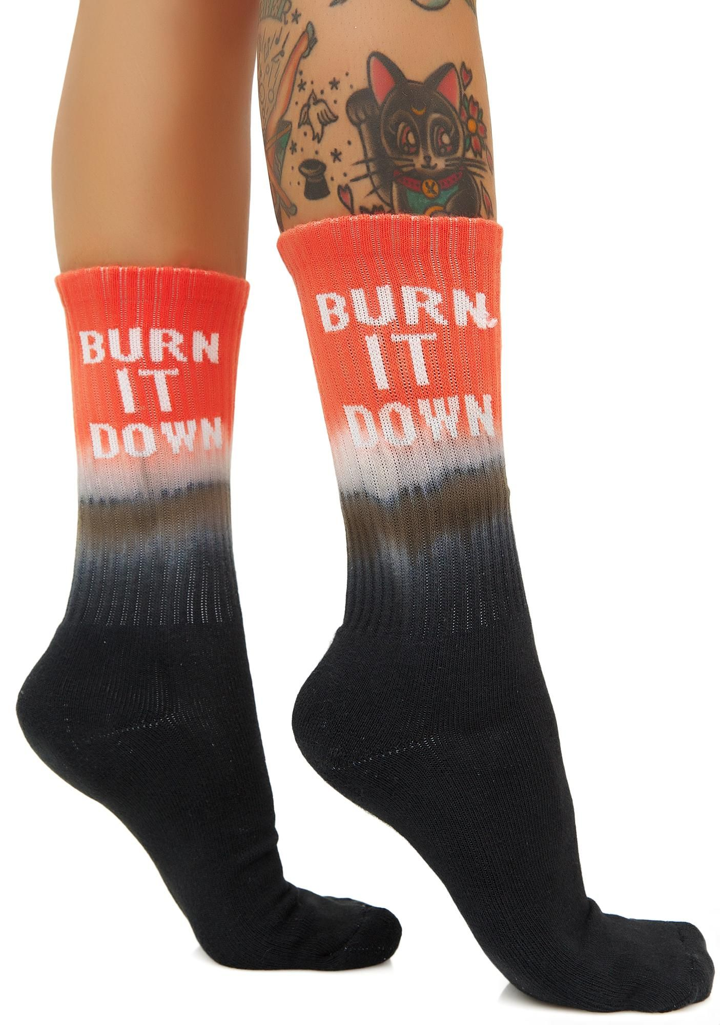 8cc55d8ce6e HUF Burn It Down Crew Sock