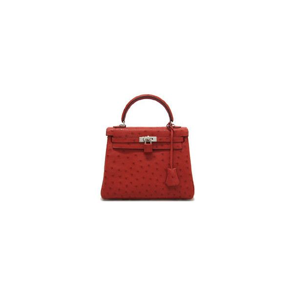 Hermes Small Kelly Ostrich Bag Liked On Polyvore Featuring Bags Handbags