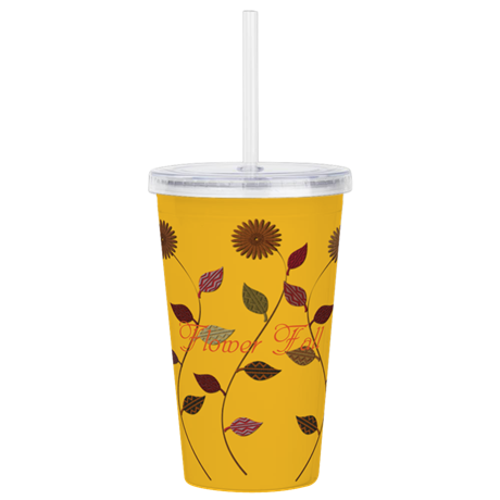 Chic Daisies Floral Acrylic Double-wall Tumbler