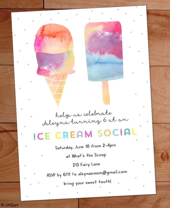 Ice Cream Party Invitation Ice Cream Birthday Party Invite Etsy Ice Cream Birthday Party Invitations Ice Cream Social Invitations Ice Cream Birthday Party