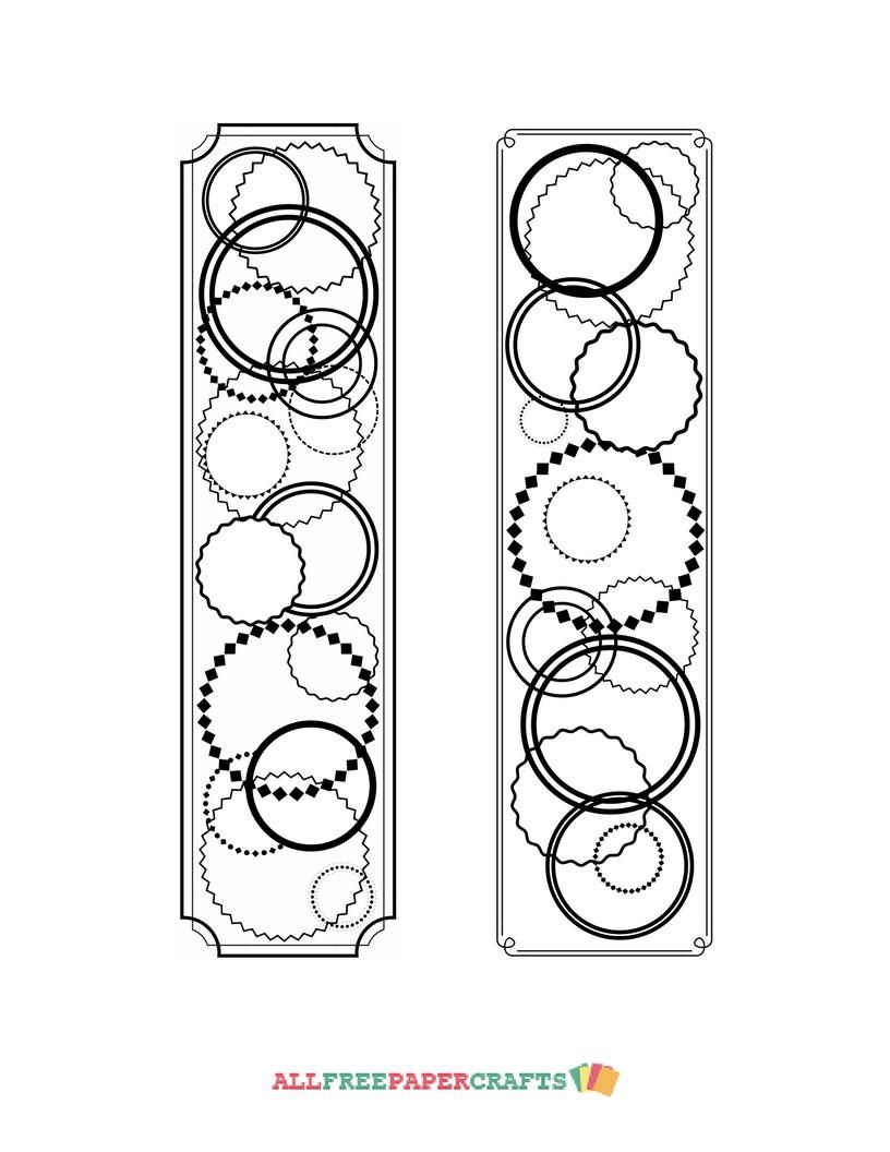 Continuous Circles Coloring Page Bookmarks   Free Printables ...