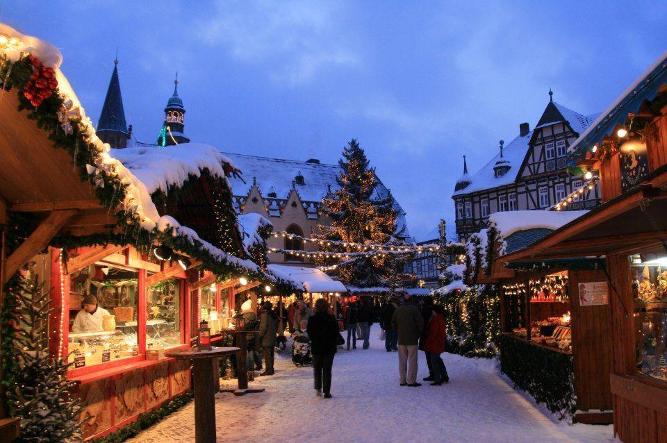 Goslar Weihnachtsmarkt.Weihnachtsmarkt Weihnachtswald Goslar Deutschland