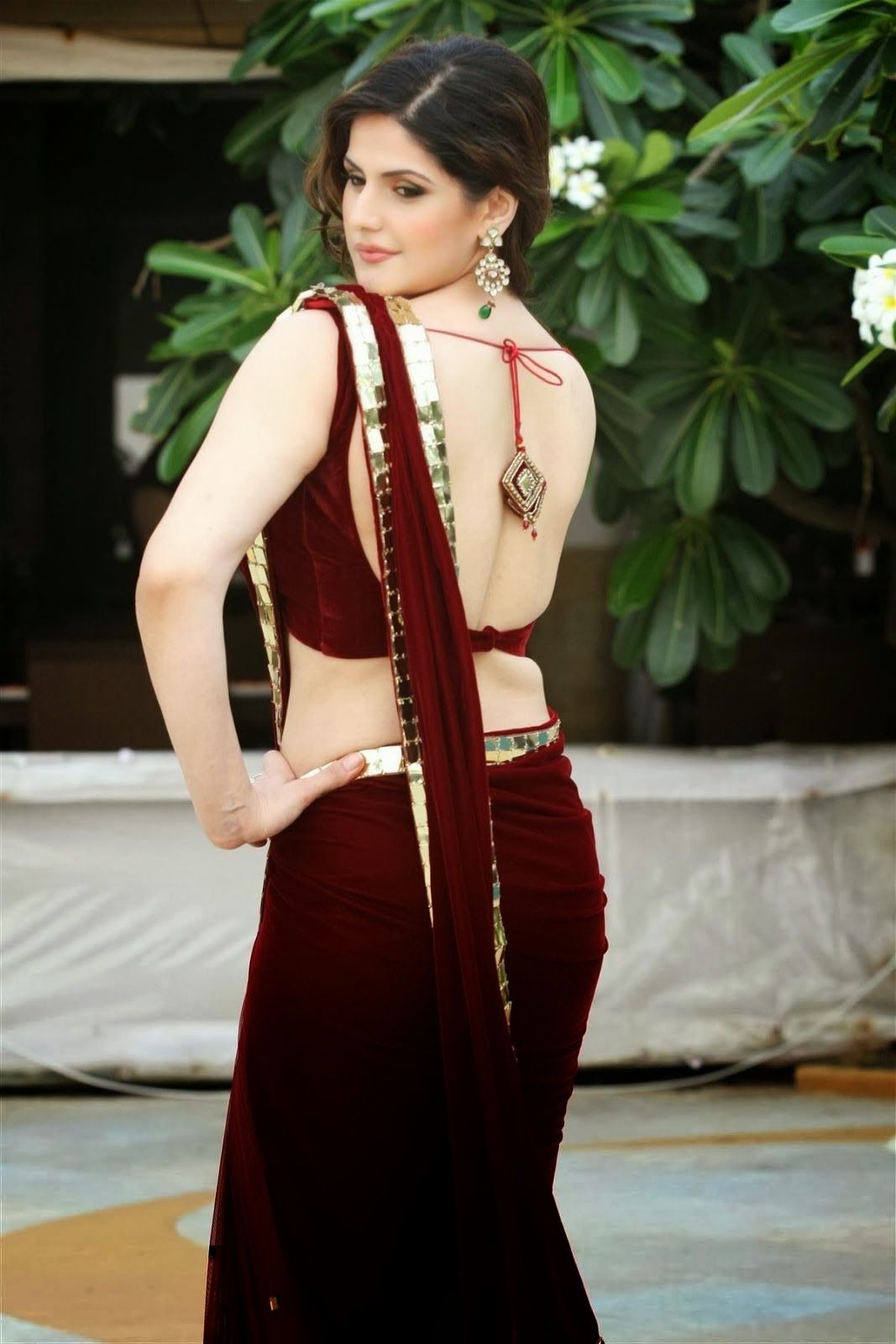 Best Of Pinterest Images Zarine Khan Hot In Saree  Bollywood Celebrities In 2019  Saree -5757