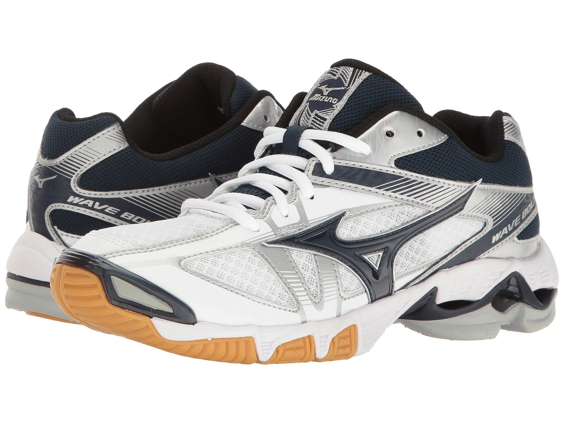 Mizuno Wave Bolt 6 In White Navy Modesens Womens Shoes Sneakers Running Shoes For Men Womens Running Shoes