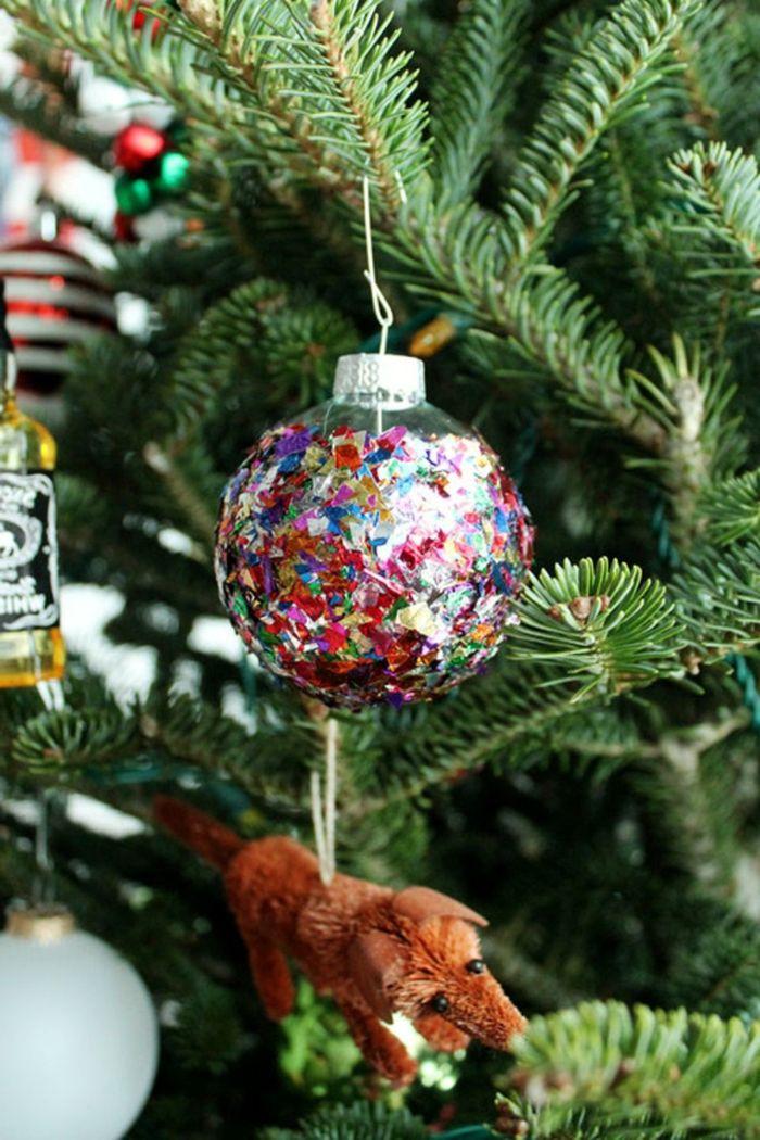 Bolas de navidad ornamento diy para tu rbol de navidad - Como decorar bolas de navidad ...