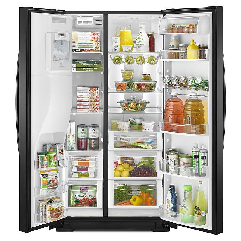 Kenmore Elite 51779 28 Cu Ft Side By Side Refrigerator Black Stainless Steel Refrigerator Side By Side Refrigerator Best Fridge Freezer