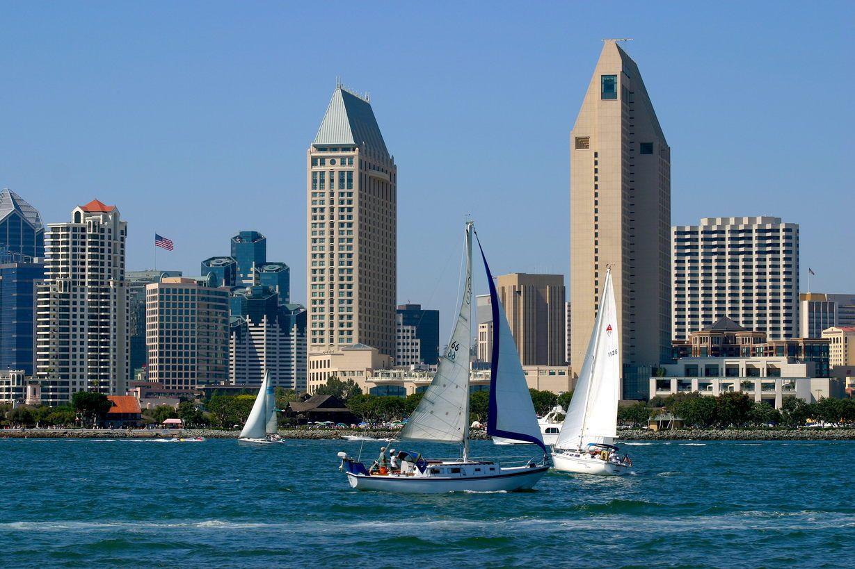 Beautiful San Diego skyline
