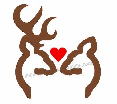 Download Browing Deer Couple in Love 7 Inches tall by ...