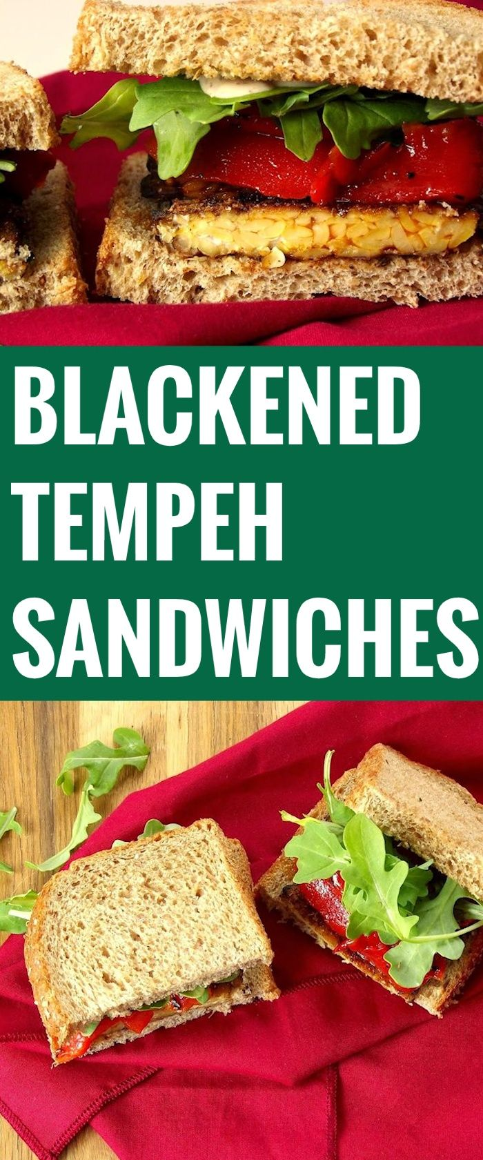 Blackened Tempeh Sandwiches