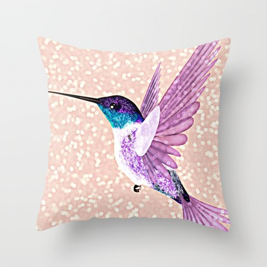 Buy hummingbird Throw Pillow by Lovely and Cute. Worldwide shipping available at Society6.com. Just one of millions of high quality products available.