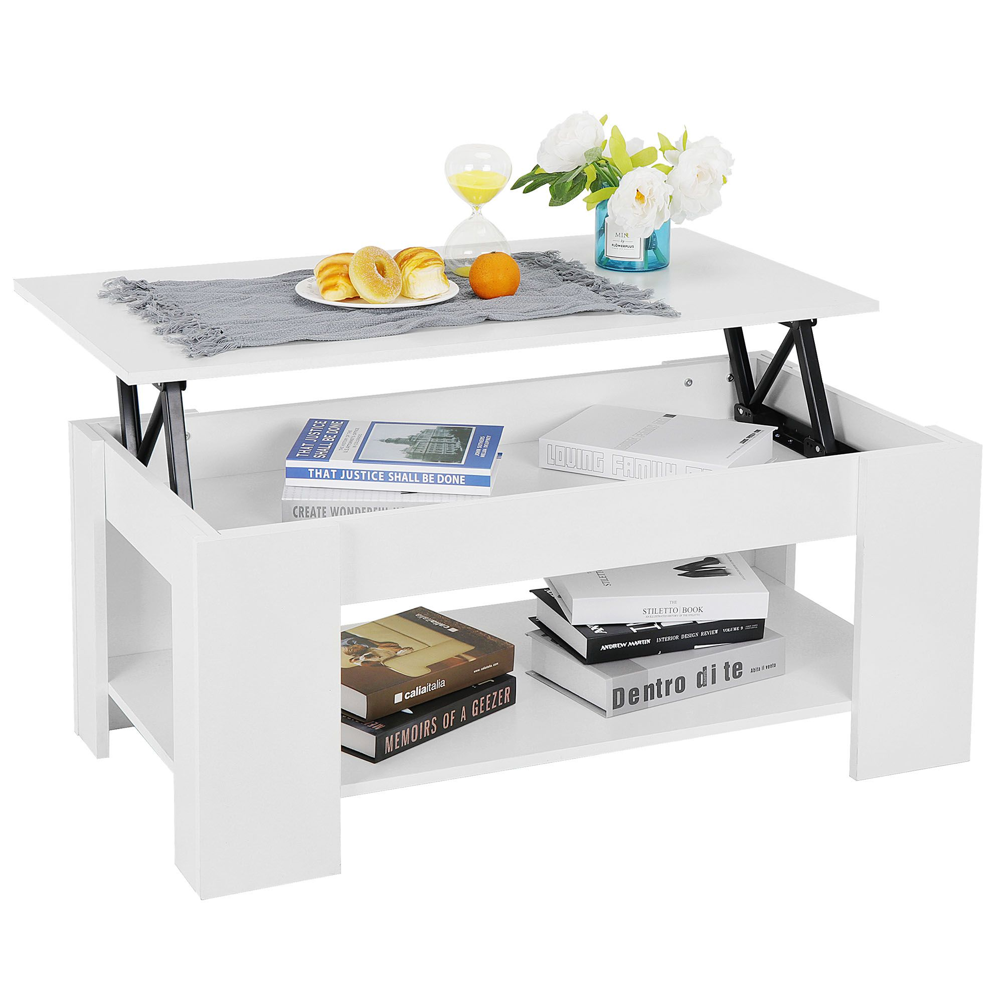 Segawe Lift Top Coffee Table W Hidden Compartment Storage Shelf Living Room Furniture White Walmart Com Coffee Table Wood Modern Shelving Coffee Table [ 2000 x 2000 Pixel ]