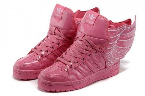 new product 83475 f6eb4 Jeremy Scott - Adidas con Alas en charol rosa