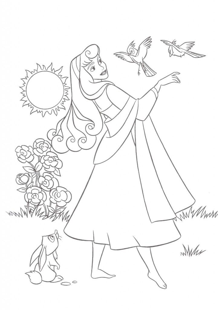 Free Printable Sleeping Beauty Coloring Pages For Kids Disney
