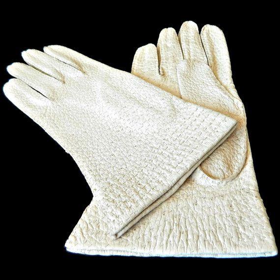 Fownes Pig Skin Gloves Size 6.5 Ladies Bone New